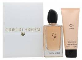 Giorgio Armani Si Gift Set 100ml EDP + 75ml Body Milk