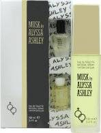 Alyssa Ashley Musk Lahjasetti 100ml EDT + 5ml Musk Hajuvesiöljy + 5ml White Musk Hajuvesiöljy