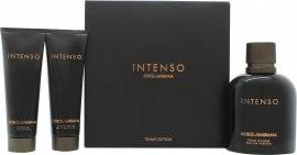 Dolce & Gabbana Pour Homme Intenso Gift Set 125ml EDP + 50ml Aftershave Balm + 50ml Shower Gel