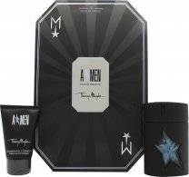 Thierry Mugler A*Men Rubber Flask Gift Set 50ml EDT Refillable+ 50ml Hair & Body Shampoo