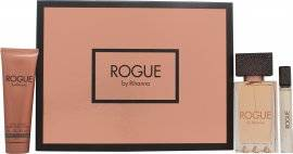 Rihanna Rogue Gift Set 125ml EDP + 90ml Body Lotion + 6ml Rollerball