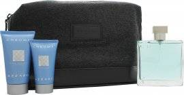Azzaro Chrome Gift Set 100ml EDT + 30ml Aftershave Balm + 50ml All Over Shampoo