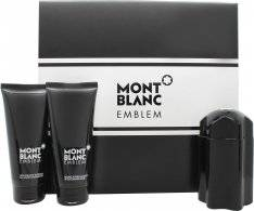 Mont Blanc Emblem Gift Set 100ml EDT + 100ml A/Shave Balm + 100ml Shower Gel