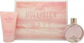 Hollister Wave For Her Christmas Gift Set 100ml EDP + 100ml Shower Gel