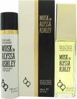 Alyssa Ashley Musk Gift Set 100ml EDT + 100ml Perfumed Deodorant Spray
