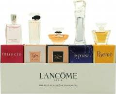 Lancôme Lancome The Best of Fragrances Miniatures Gift Set 5ml Hypnose EDP + 5ml Miracle EDP + 4ml Poeme EDP + 7.5ml Tresor EDP + 5ml Tresor in Love EDP