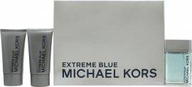 Michael Kors Extreme Blue Gift Set 120ml EDT + 75ml After Shave Balm + 75ml Hair & Body Wash