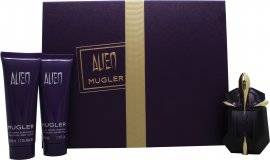Thierry Mugler Alien Gift Set 30ml EDP Refillable + 50ml Body Lotion + 50ml Shower Milk