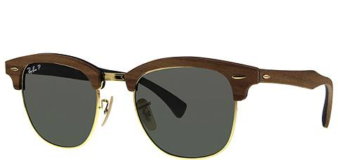 Ray-Ban Clubmaster Wood Polarized RB3016M-118158