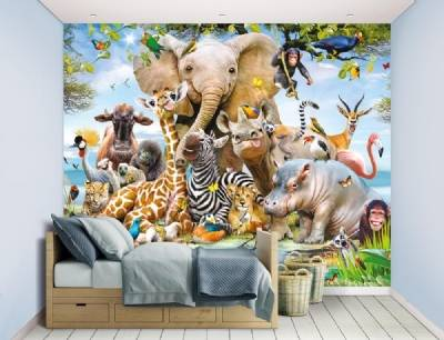 Jungle Safari tapetti, Walltastic