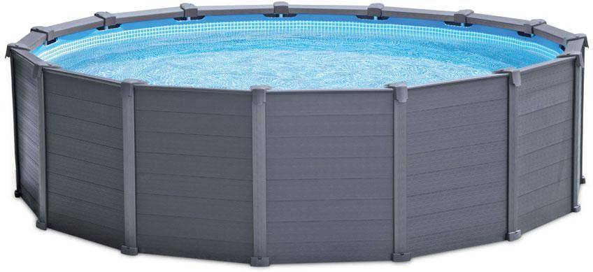 Intex Graphite Grey Panel uima-allas pyöreä 16805L, Intex Pool - Intex 26382