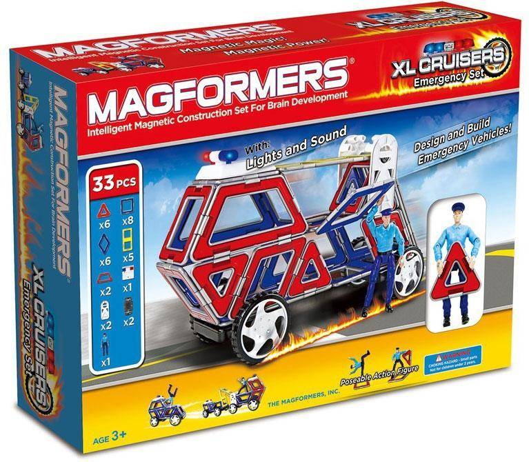 Magformers XL Cruisers Emergency Set - Magformers XL Cruisers Emergency Set rakennuspalik