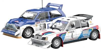 Monte Carlo Rally Peugeot 205 T16 E2 ja MG Metr, Scalextric