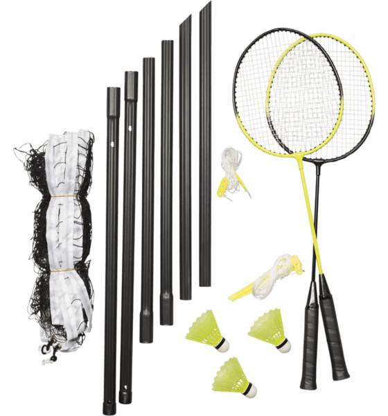 Revolution Leikit & pelit Revolution 2p Badminton Set BLACK/YELLOW (Sizes: No Size)