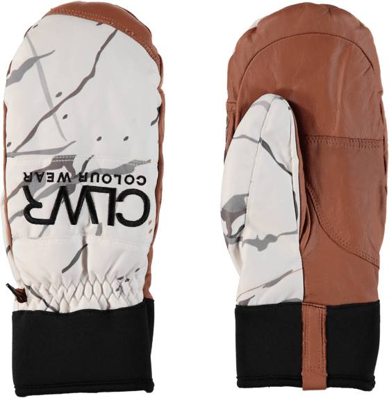 Colour Wear Käsineet & lapaset Colour Wear Clwr Rider Mitten WHITE MARBLE (Sizes: 9)