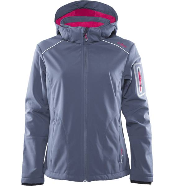 Cmp Takit Cmp W Softshell Zip Hd ASPHALT/MAGENTA (Sizes: 44)