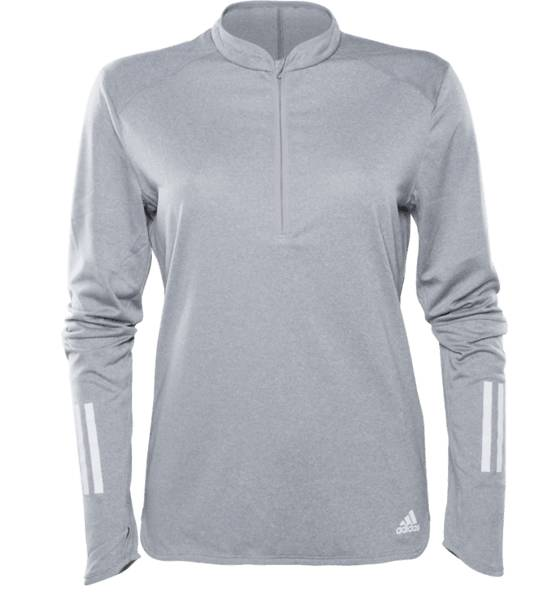Adidas Juoksuvaatteet Adidas W Rs Ls Zip Tee GREY (Sizes: XS)