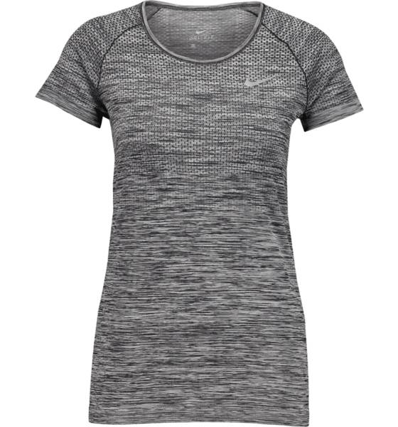 Nike Juoksuvaatteet Nike W Df Knit Top Ss BLACK/HTR/REFLECTI (Sizes: XS)