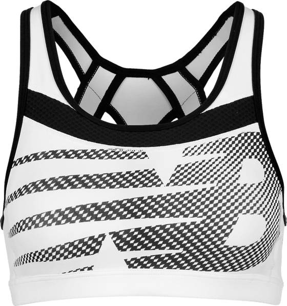 New Balance Juoksuvaatteet New Balance W Pulse Bra WHITE/BLACK (Sizes: XS)