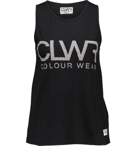 Colour Wear Topit Colour Wear W Logo Tank Top BLACK (Sizes: S)