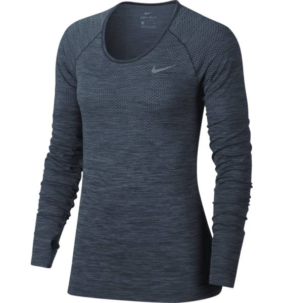 Nike Juoksuvaatteet Nike W Df Knit Top Ls DECEMBER SKY/THUND (Sizes: XS)