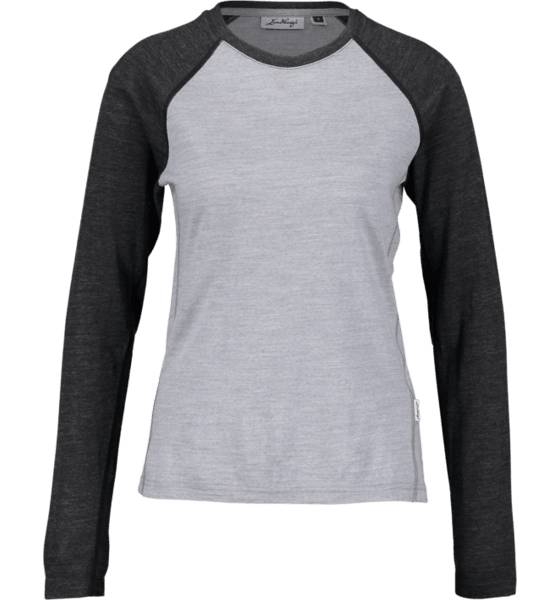 Lundhags Retkeilyvaatteet Lundhags W Merino Ls Raglan GREY/LIGHT GREY (Sizes: L)