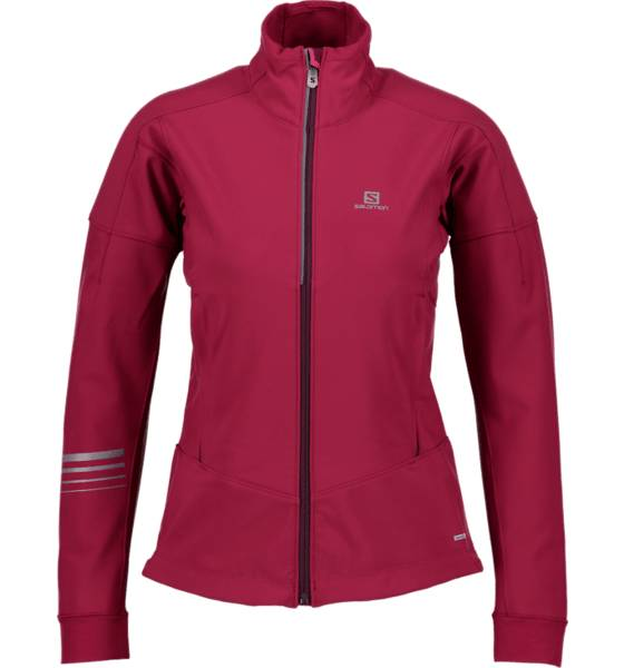 Salomon Maastohiihtovaatteet Salomon W Lightning Warm Softshell Jacket BEET RED (Sizes: S)