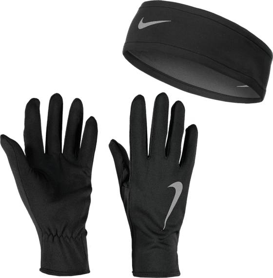 Nike Juoksuvaatteet Nike W Run Dry Headband And Glove Set BLACK/ANTHRACITE/S (Sizes: M/L)