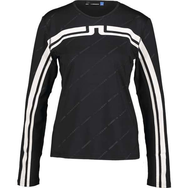 J Lindeberg W Berit Poly Jersey Treenivaatteet BLACK (Sizes: S)