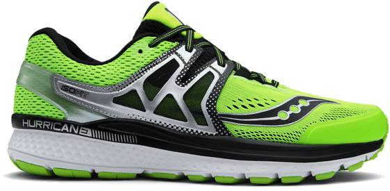 Saucony M Hurricane Iso3 Juoksukengät SLIME/BLACK (Sizes: US 8)