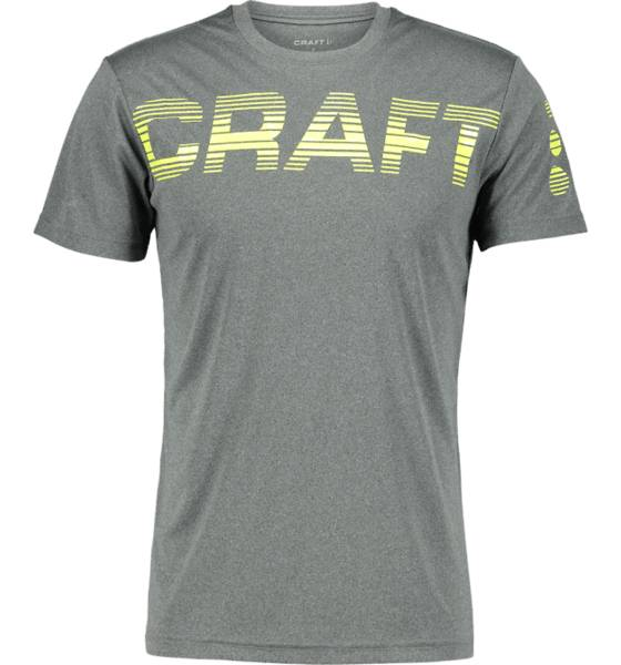 Craft Juoksuvaatteet Craft M Prime Logo Tee DARK GREY MELANGE/ (Sizes: L)