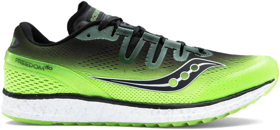 Saucony Freedom Iso Juoksukengät SLIME/BLACK (Sizes: US 11)