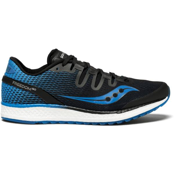 Saucony Freedom Iso Juoksukengät BLACK/BLUE (Sizes: US 12)