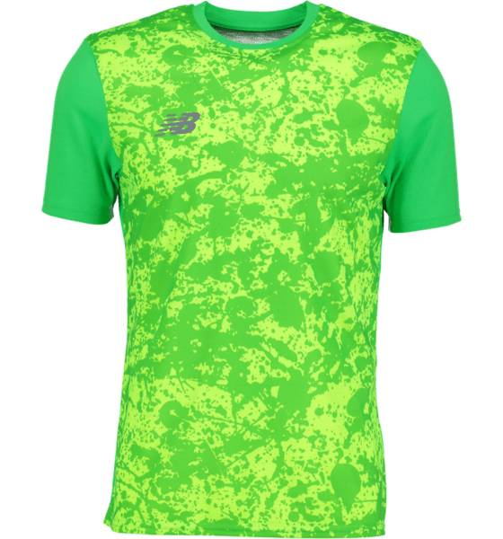 New Balance M Graphic Tee Jalkapallovaatteet VIVID CACTUS (Sizes: M)