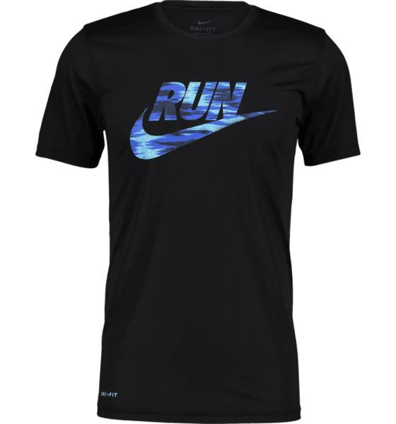Nike Juoksuvaatteet Nike M Dry Tee Lgd Brand BLACK/GAME ROYAL (Sizes: M)