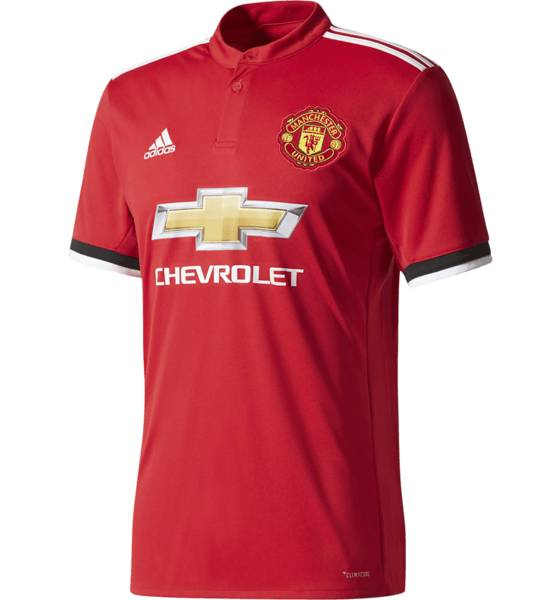 Adidas Jalkapallovaatteet Adidas Mufc Ss Home Jsy REAL RED/WHITE (Sizes: M)
