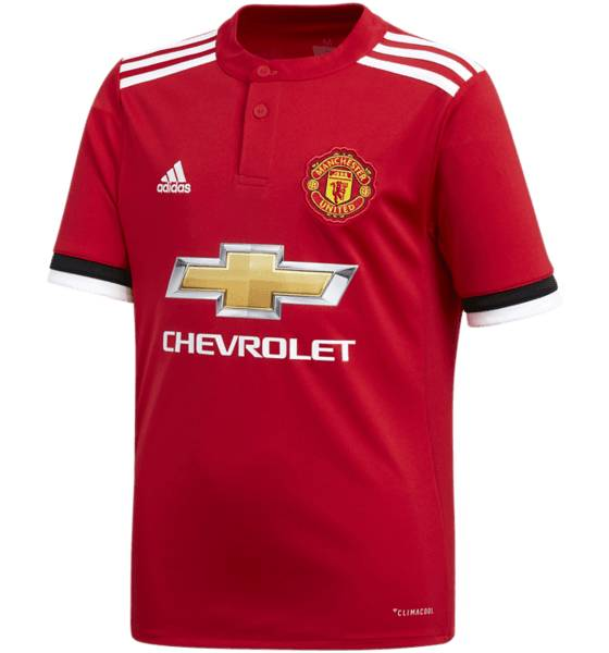 Adidas Mufc Ss Home Jsy J Jalkapallovaatteet REAL RED/WHITE (Sizes: 128)