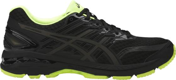 Asics M Gt-2000 5 Ls Fi Juoksukengät BLACK/SAFETY YELLO (Sizes: US 9.5)