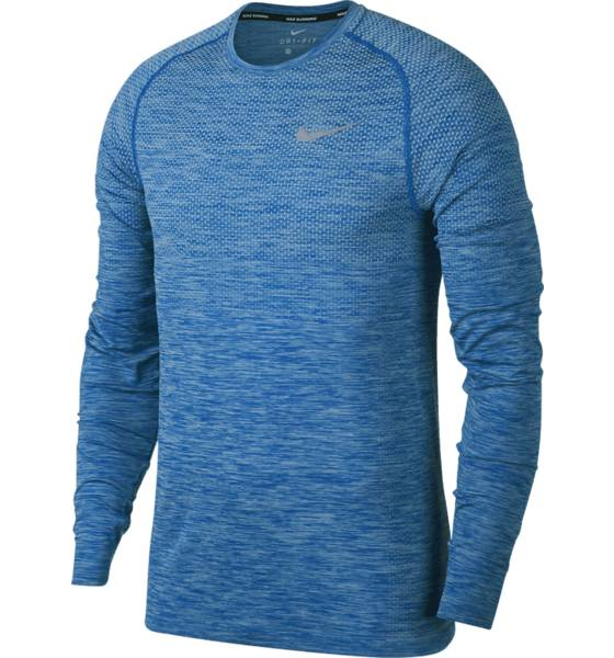 Nike Juoksuvaatteet Nike M Nk Df Knit Top Ls HYDROGEN BLUE/BLUE (Sizes: L)