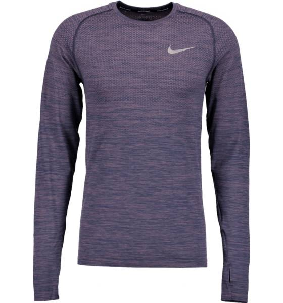 Nike Juoksuvaatteet Nike M Nk Df Knit Top Ls TAUPE GREY/THUNDER (Sizes: S)
