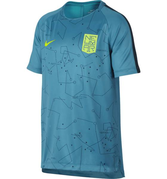 Nike Jalkapallovaatteet Nike Njr Squad Top Ss J LT BLUE LACQUER (Sizes: M)
