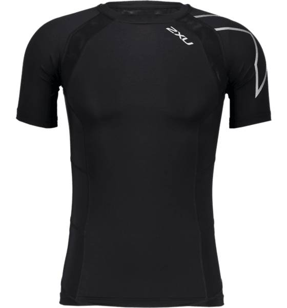 2xu Juoksuvaatteet 2xu M Compression Ss Top BLACK/SILVER (Sizes: XS)