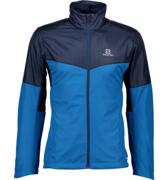 Salomon Maastohiihtovaatteet Salomon M Escape Jacket MYCONOS/DRESS BLUE (Sizes: L)