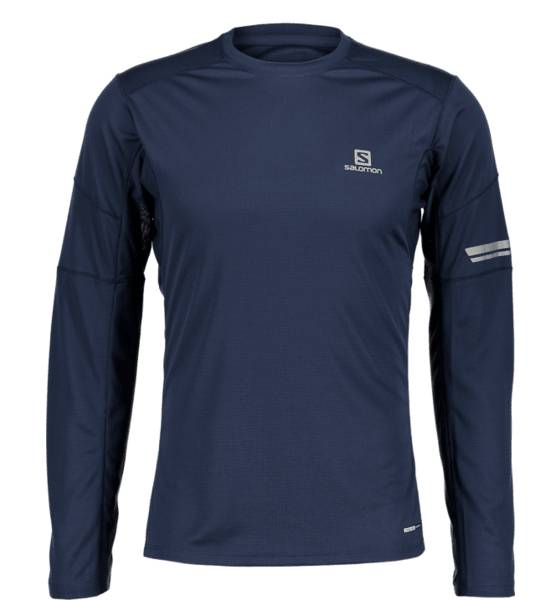 Salomon Juoksuvaatteet Salomon M Agile Ls Tee DRESS BLUE (Sizes: XL)