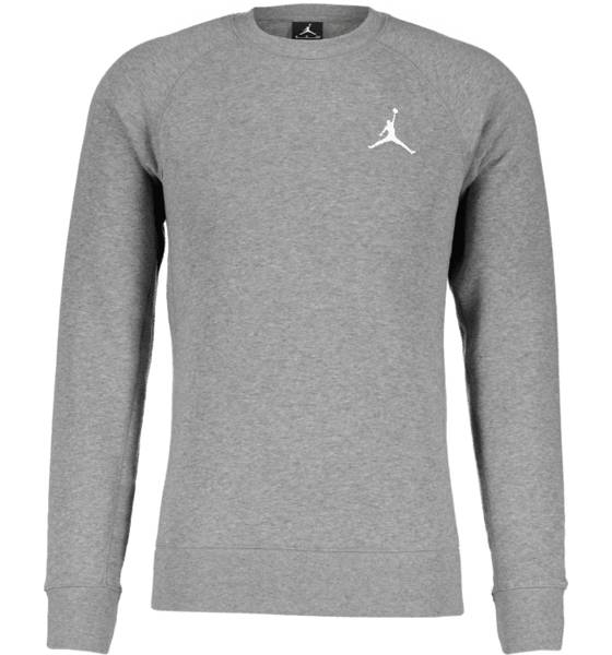 Jordan M Flight Fleece Crew Koripallovaatteet CARBON HEATHER/WHI (Sizes: L)