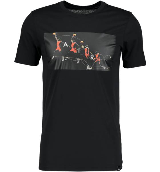 Jordan Koripallovaatteet Jordan M Jbsk Df Flight Photo Tee BLACK (Sizes: M)