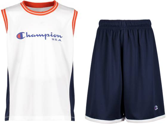 Champion J Basket Set Koripallovaatteet WHITE/NAVY (Sizes: JR S)