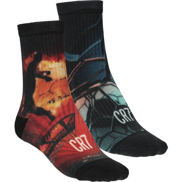 Cr7 J Socks 2-p Puuvillasukat RED/BLUE (Sizes: 10-12 Y)