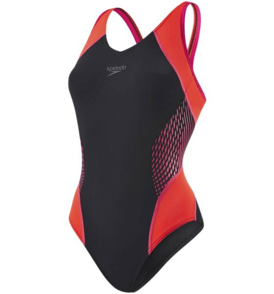 Speedo Uimapuvut Speedo W Fit Splice Muscleback BLACK/PINK (Sizes: 40)