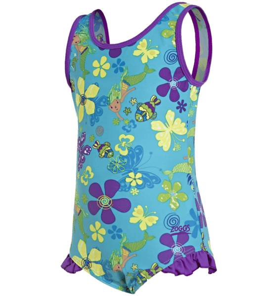 Zoggs Uimapuvut Zoggs G Mermaid Flower Scoopback BLUE/MULTI (Sizes: 92)